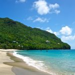Beach on Bequia island in St. Vincent & the Grenadines.