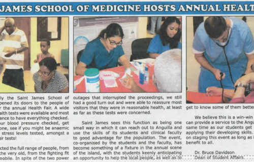 Caribbean medical school health fair