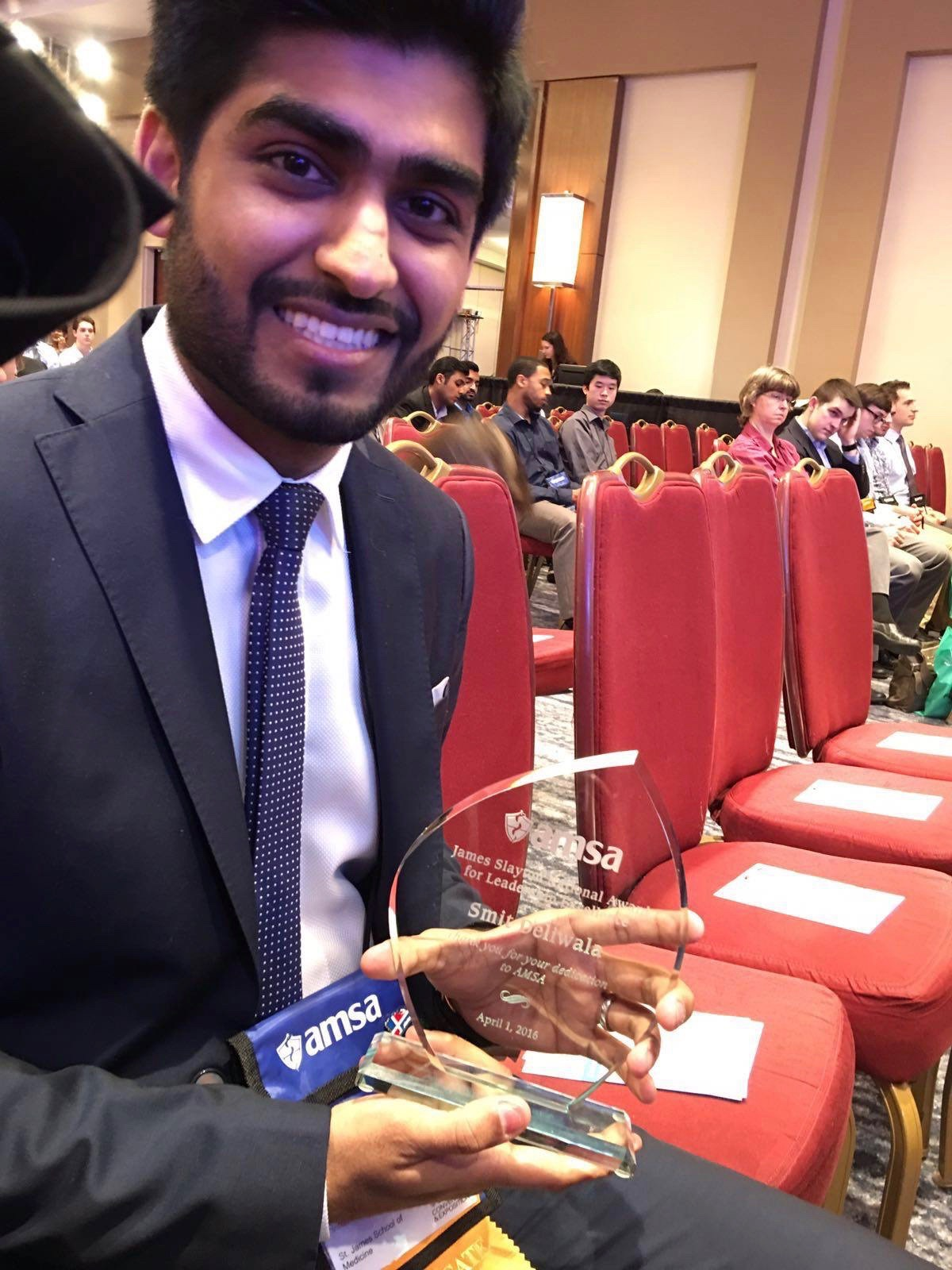 SJSM Student Smit with American Medical Student Association Award