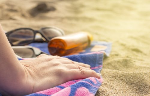 Sun exposure can greatly contribute to skin aging.